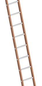 Layher 1036010 1036 Bau-Holzanlegeleiter braun 10 Sprossen