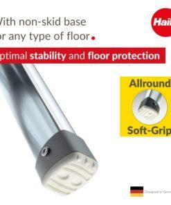 2 Stufen hoher Sicherheitshalteb/ügel belastbar bis 150 kg 4302-201 F/ü/ße mit Soft-Grip-Sohlen Klapptritt Hailo LivingStep Plus